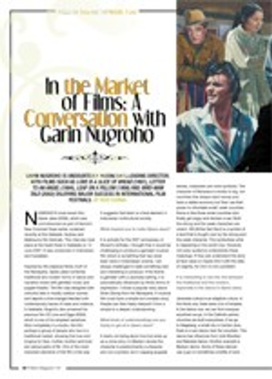 In the Market of Films: A Conversation with Garin Nugroho