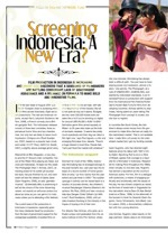 Screening Indonesia: A New Era?