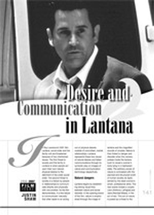 Desire and Communication in <i>Lantana</i>