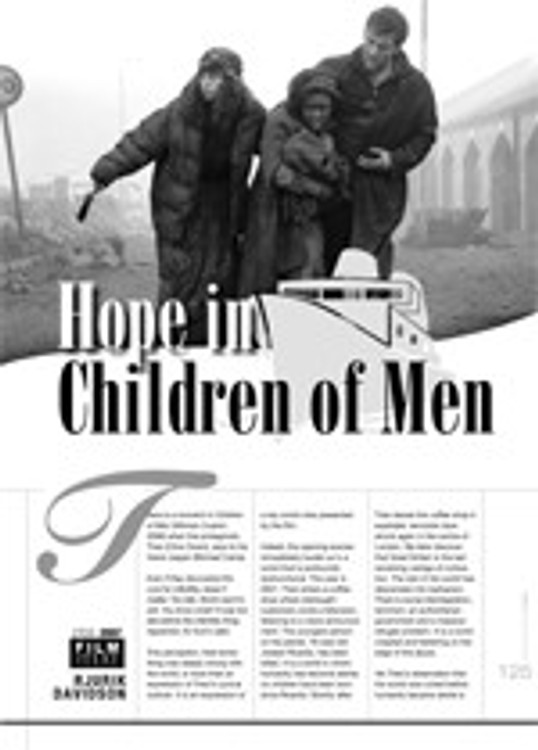 Hope in <i>Children of Men</i>