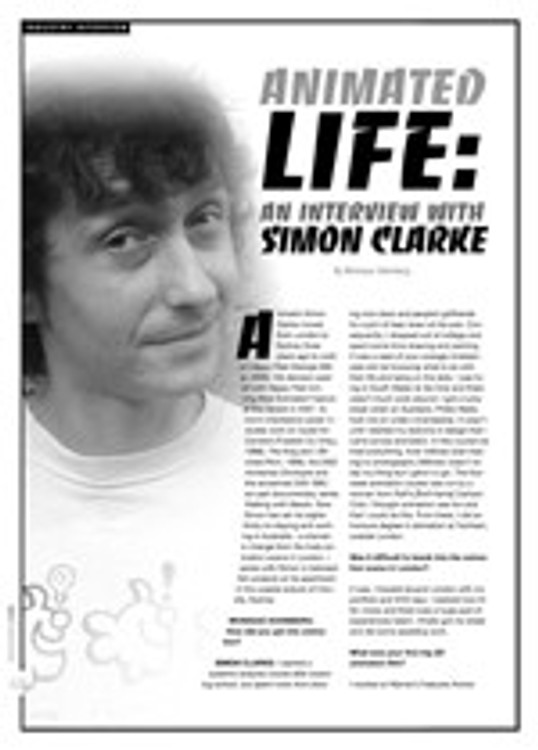 Animated Life: An Interview with Simon Clarke