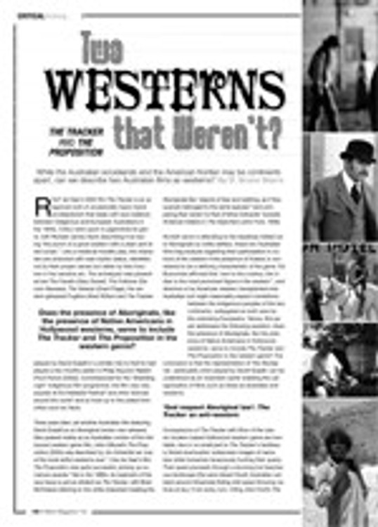 Two Westerns that Weren't? <i>The Tracker</i> and <i>The Proposition</i>