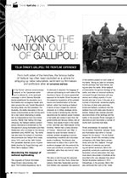 Taking the 'Nation' out of Gallipoli: Tolga ?nek's <i>Gallipoli: The Frontline Experience</i>