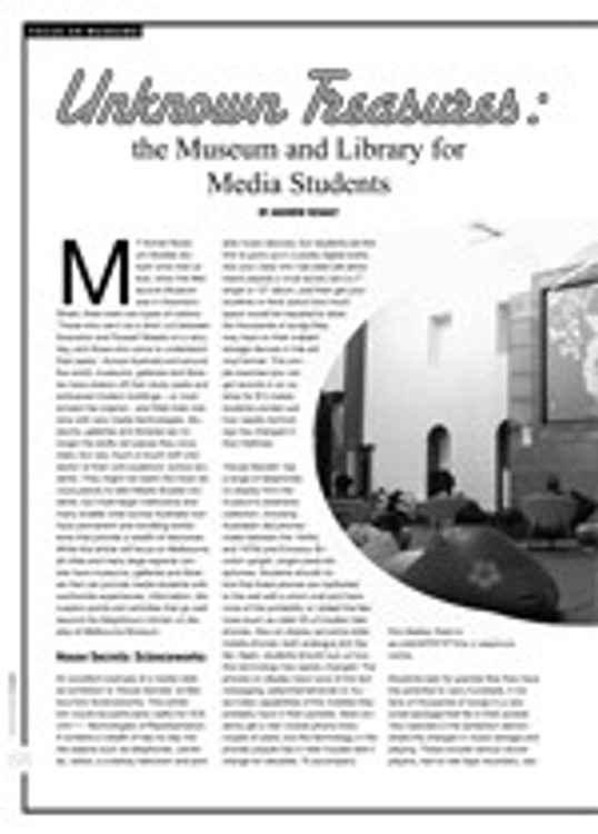 Unknown Treasures: The Museum and Library for Media Students