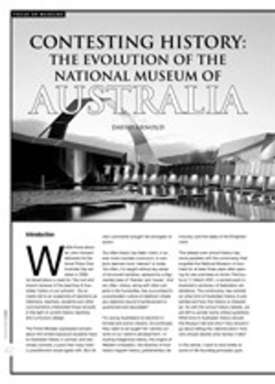 Contesting History: The Evolution of The National Museum of Australia; Classroom Resources Available from The National Museum of Australia