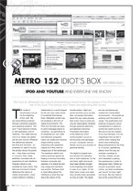 Idiot's Box: iPod and YouTube and Everyone We Know