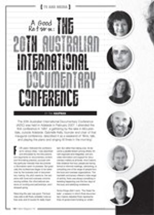 A Good Return: The 20th Australian International Documentary Conference