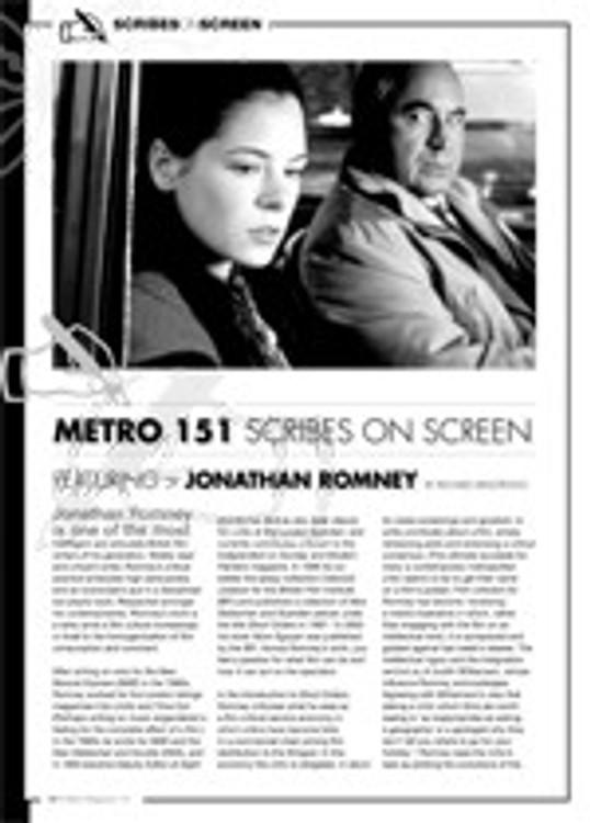 Scribes on Screen: Jonathan Romney