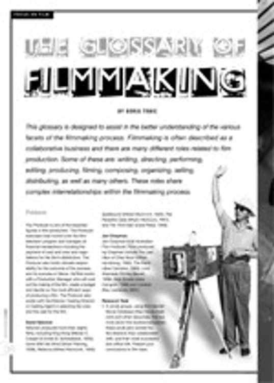 The Glossary of Filmmaking