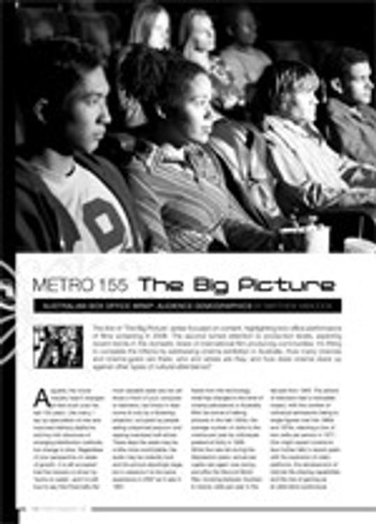 The Big Picture ?Australian Box Office Wrap: Audience Demographics