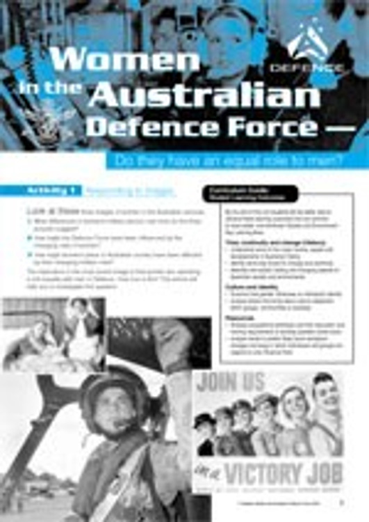 Women in the Australian Defence Force ?Do they have an equal role to men?
