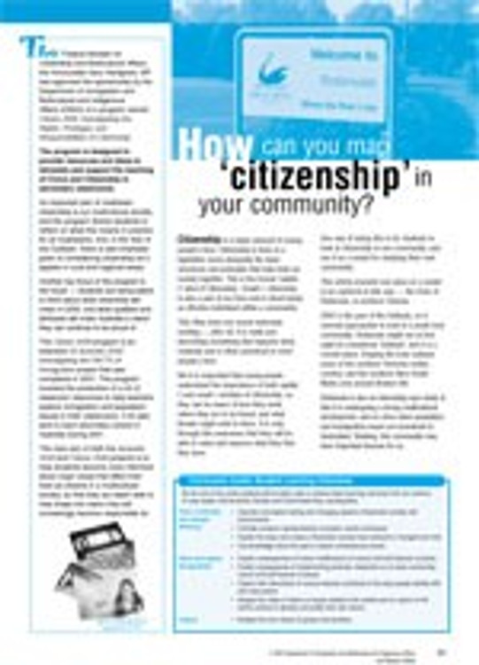 Citizen 2030: Mapping citizenship in a local community