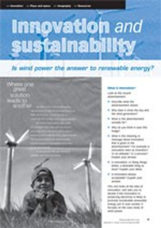 Innovation and renewable energy ?wind power case study