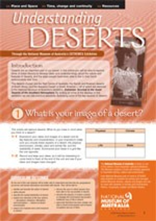 Understanding deserts through the National Museum of Australia? EXTREMES Exhibition