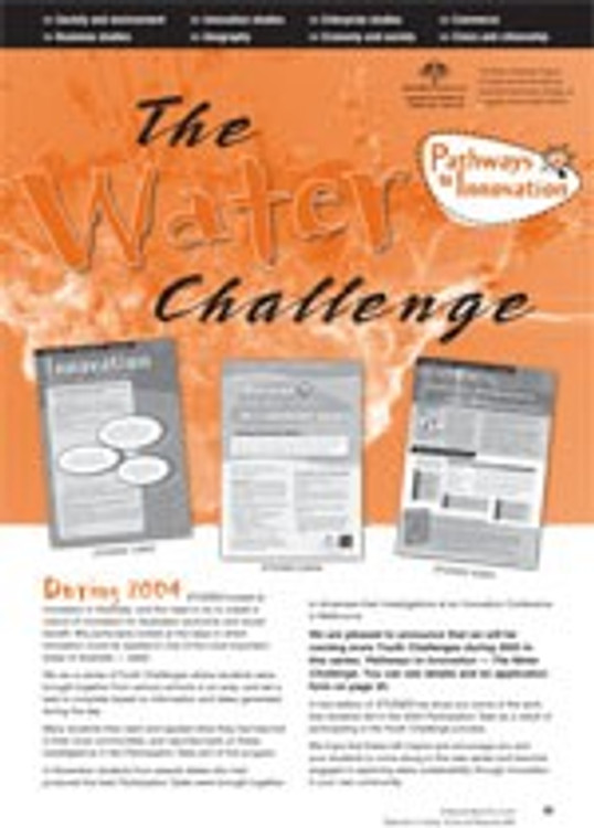 The Water Challenge ?Innovation and water sustainability