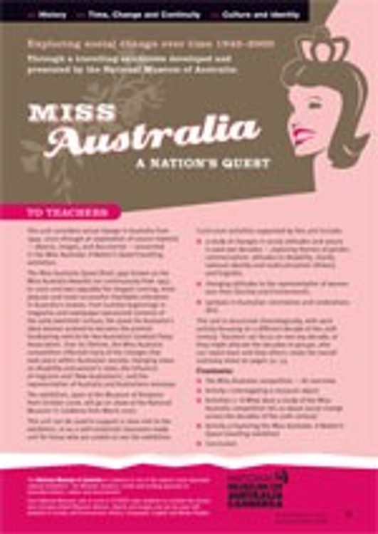 Exploring social change over time ?through the Miss Australia Quest