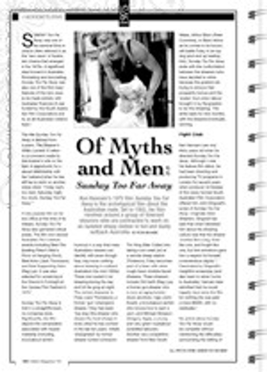 Of Myths and Men: Sunday Too Far Away