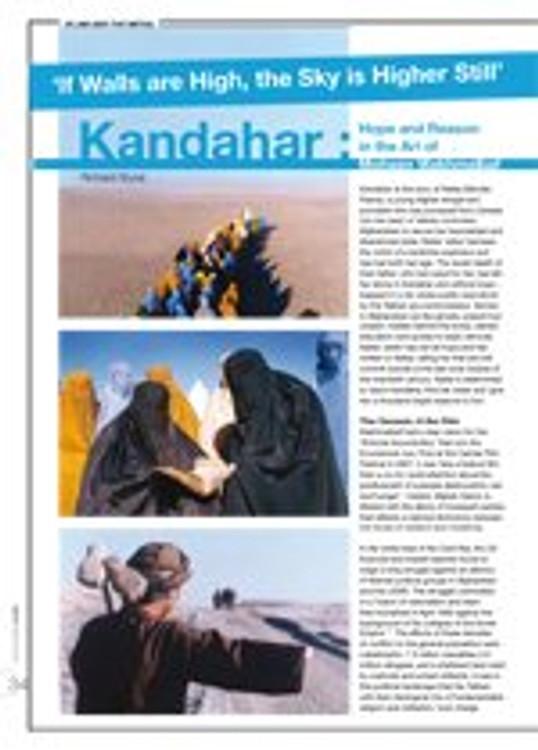 <i>Kandahar</i>: Hope and Reason in the Art of Mohsen Makhmalbaf