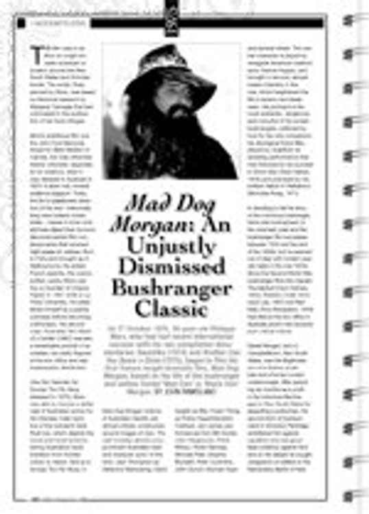 <i>Mad Dog Morgan</i>: An Unjustly Dismissed Bushranger Classic