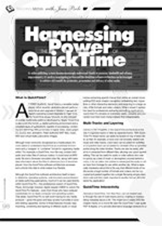 Harnessing the Power of Quicktime