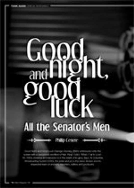 Good Night, and Good Luck: All the Senator's Men