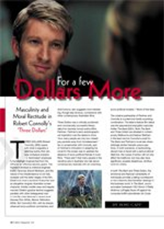 For a Few Dollars More: Masculinity and Moral Rectitude in Robert Connolly's Three Dollars