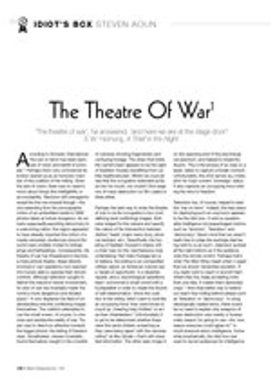 Idiot's Box: The Theatre of War