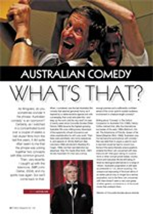 Australian Comedy: What's That?