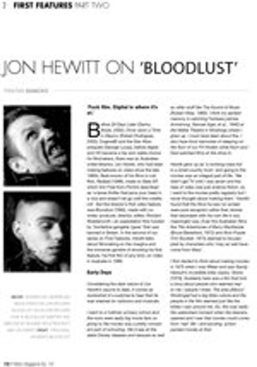 Jon Hewitt on Bloodlust