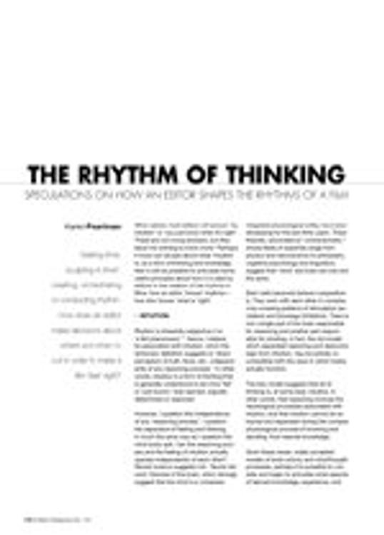 The Rhythm of Thinking