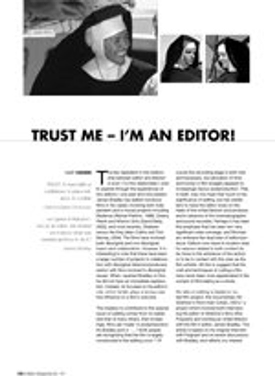 Trust Me - I'm an Editor!
