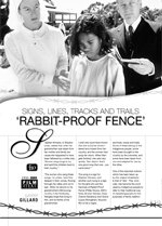Signs, Lines, Tracks and Trails: Rabbit-Proof Fence