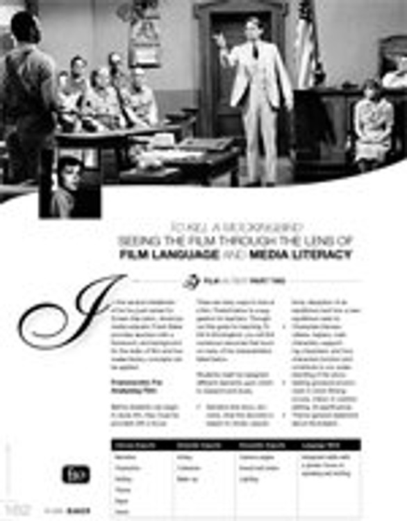 To Kill a Mockingbird: Seeing the Film Through the Lens of Film Language and Media Literacy ?Part 2