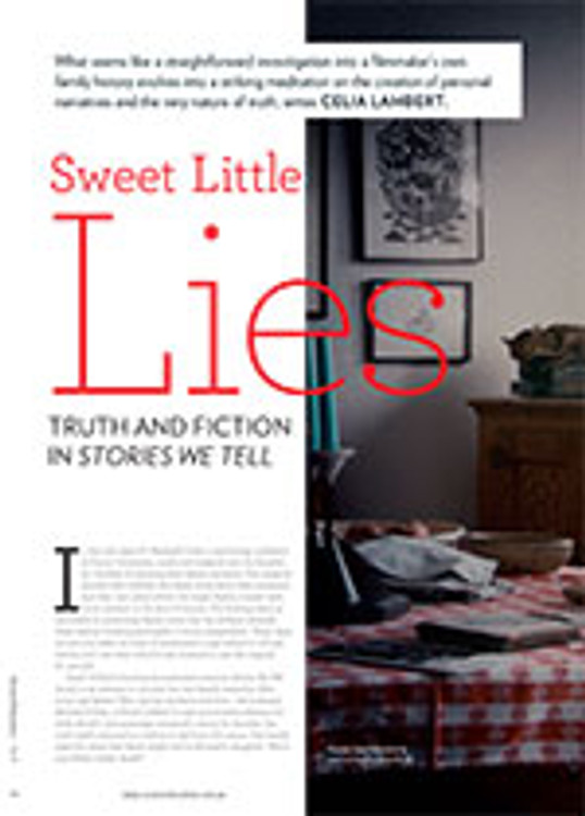 Sweet Little Lies: Truth and Fiction in <em>Stories We Tell</em>