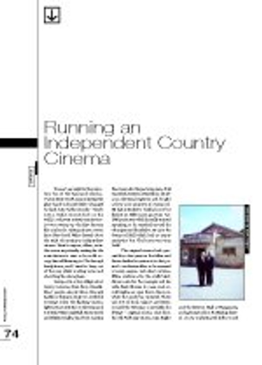 Running an Independent Country Cinema