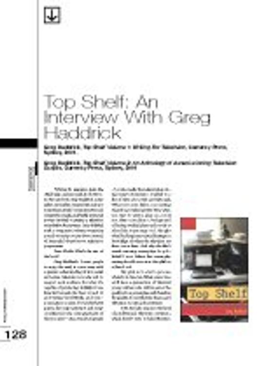 Top Shelf: An Interview with Greg Haddrick