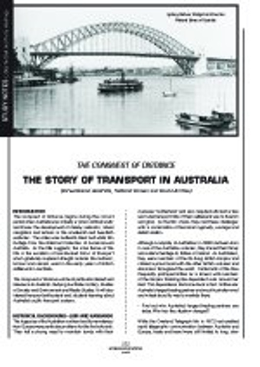 'The Conquest of Distance' - The Story of Transport in Australia (Study Notes)