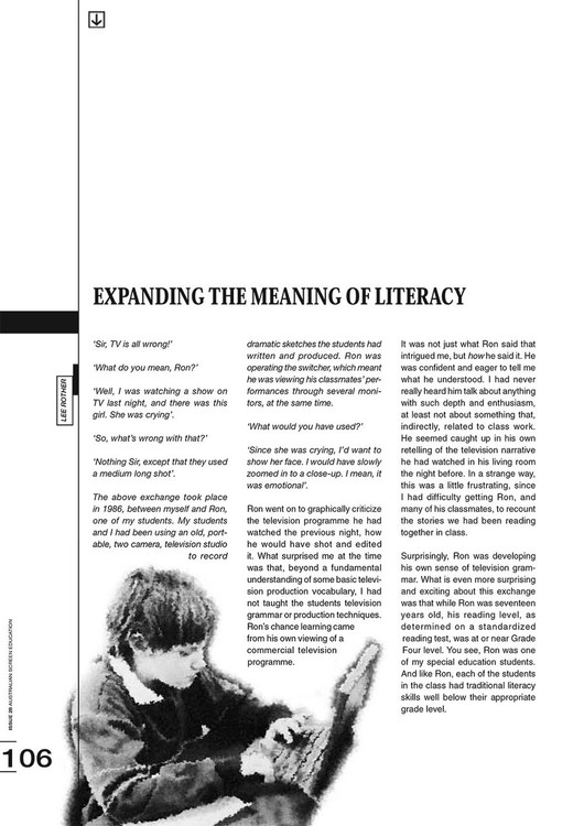 Expanding the Meaning of Literacy