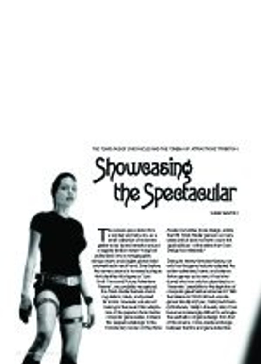 Showcasing the Spectacular: ?he Tomb Raider Chronicles?And the ?inema Of Attractions?Tradition