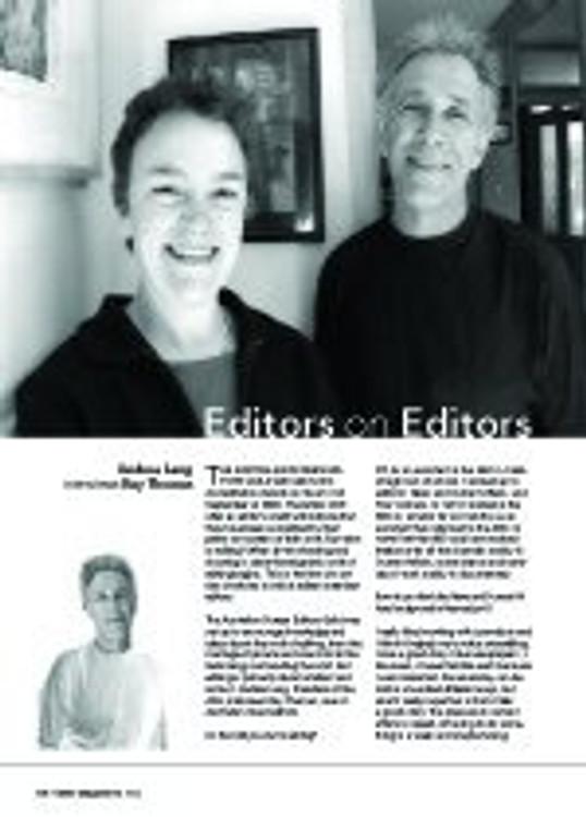 Editors on Editors: Andrea Lang Interviews Ray Thomas