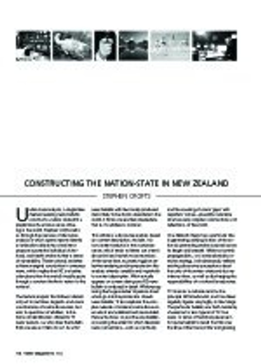 Constructing the Nation-State in New Zealand