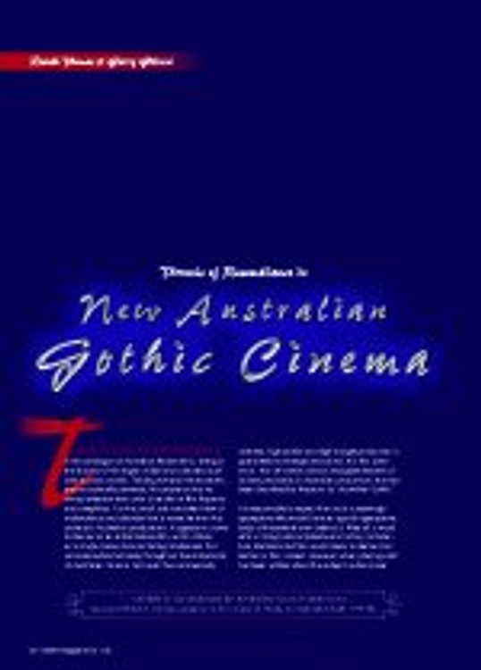Threads of Resemblance in New Australian Gothic Cinema