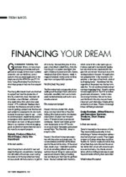 Financing Your Dream