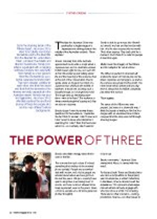 The Power of Three: An Interview with Sue Brooks, Sue Maslin and Alison Tilson