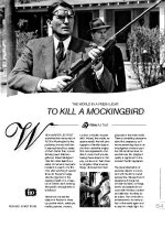 The World in a Fresh Light: ?o Kill a Mockingbird?(Film as Text)