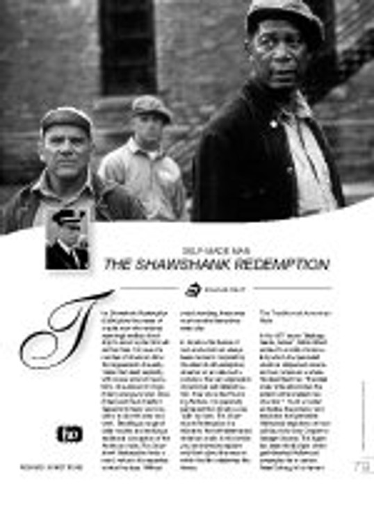 Self-Made Man: ?he Shawshank Redemption?(Film as Text)