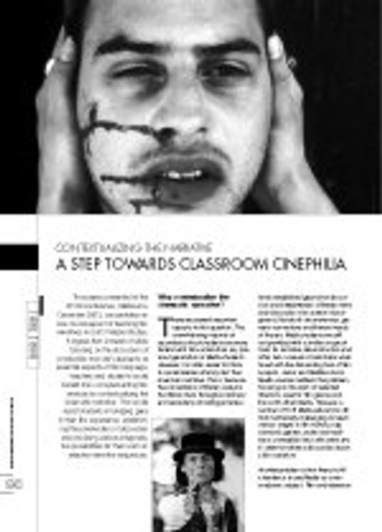 Contextualising the Narrative: A Step Towards Classroom Cinephilia