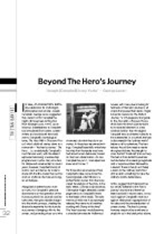 Beyond the Hero? Journey