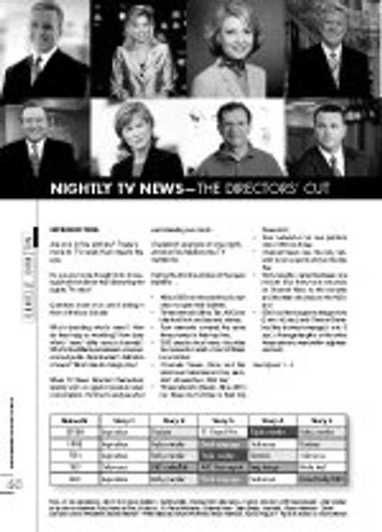 Nightly TV News: the Directors?Cut