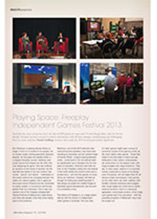 Playing Space: Freeplay Independent Games Festival 2013